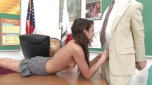 Stunning brunette maiden Jesse Jorden and fuckmate met after a long time to have steamy sex