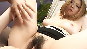 Appetizing busty lady Riana Natsukawa gets her sissy doggy styled hard