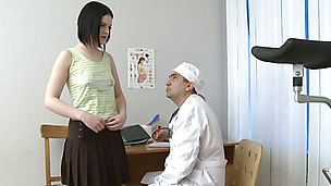 Horny Rita visited her doctor and ended up fucking him